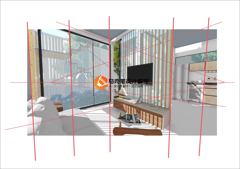 建筑设计渲染 – 马克笔设计留学